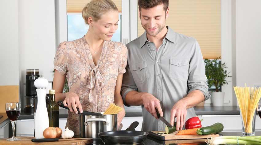 Kochmesser für Mann und Frau